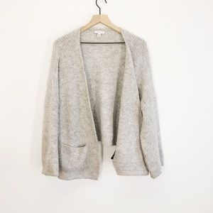 TOPSHOP Grey Open Front Pocket Cardigan